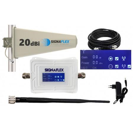 Komplet GSM WHITE LCD Tajfun z bat