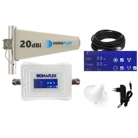 Komplet GSM White LCD Signaflex Tajfun z grzybek