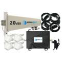 Komplet GSM/UMTS/EGSM Black Tajfun z 4x grzybek