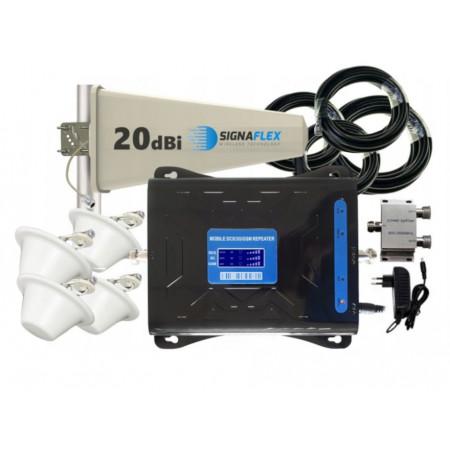 Komplet wzmacniacz Cube GSM/3G/4G LTE Tajfun z 4x grzybek