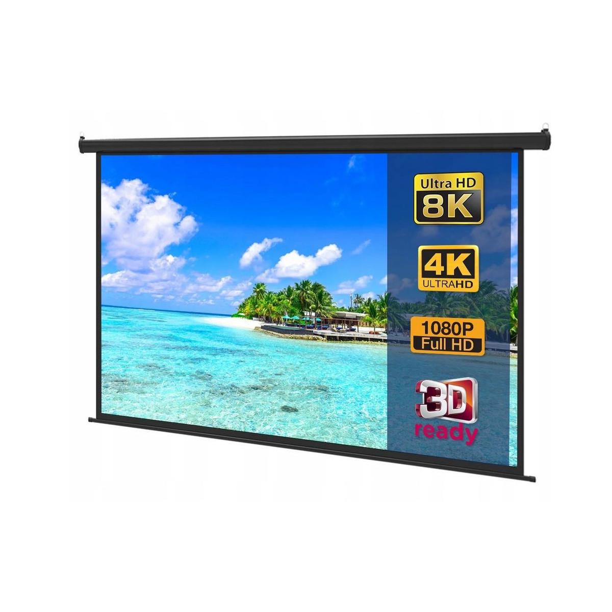 "Ekran SLIM półautomat 205x115 cm (92"")"