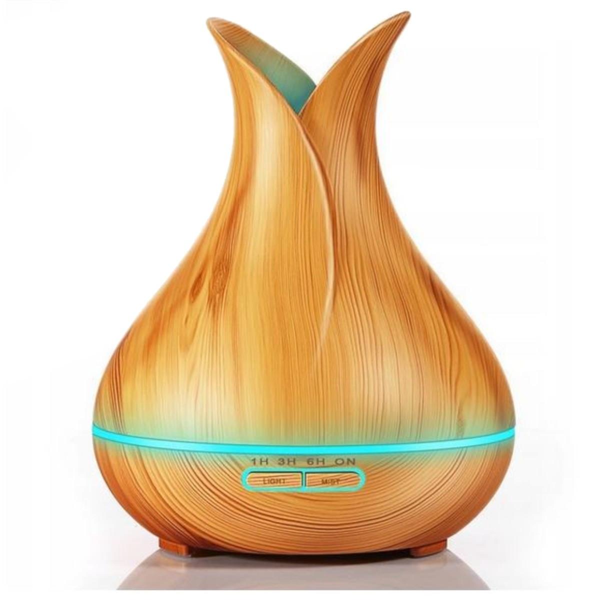 Nawilżacz powietrza Cronos Bamboo 400ml jasny brąz
