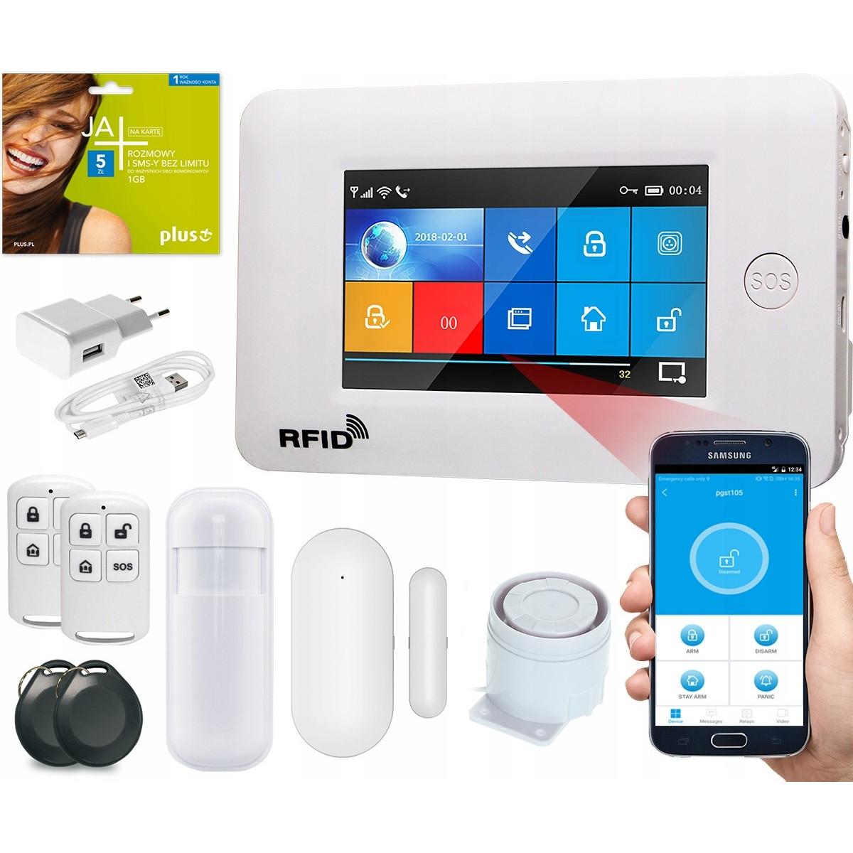 Alarm GSM Guardian IV box WiFi APP Biały