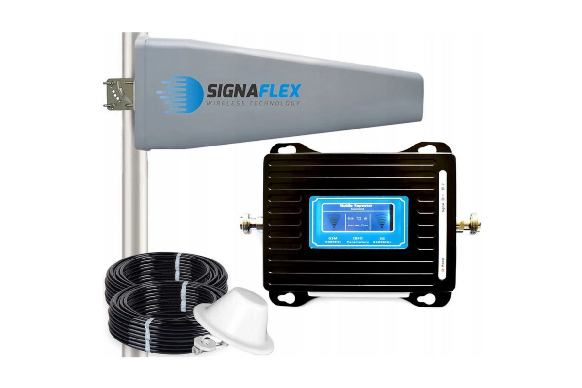 Komplet wzmacniacz GSM/DCS LCD3000 Tajfun II z grzybkiem