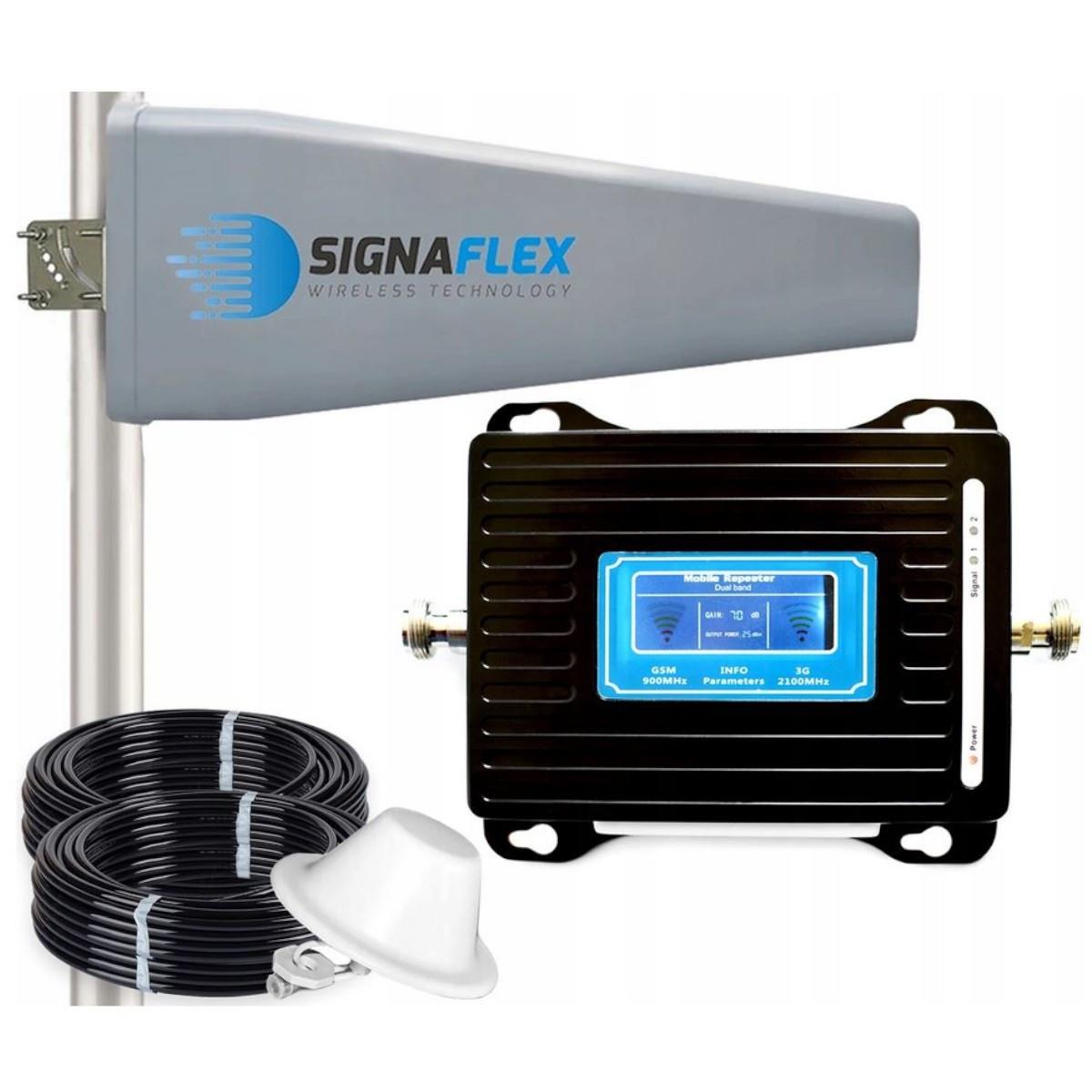 Komplet wzmacniacz GSM/UMTS LCD3000 Tajfun II z grzybkiem