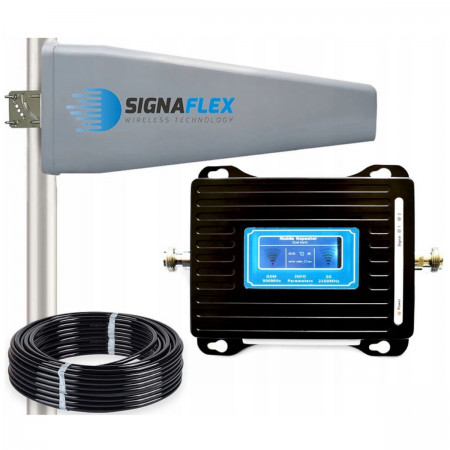 Wzmacniacz GSM/UMTS LCD3000 z wbudowaną anteną + Tajfun II