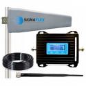 Wzmacniacz GSM/DCS LCD3000 z wbudowaną anteną + Tajfun II + bat