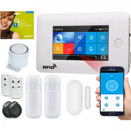 Alarm GSM Guardian IV box WiFi APP Biały + 1 PIR