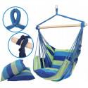 Podwieszane krzesło hamakowe 130x100 cm LEIGAR® Niebieskie