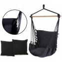 Podwieszane krzesło hamakowe 130x100 cm LEIGAR® Czarne