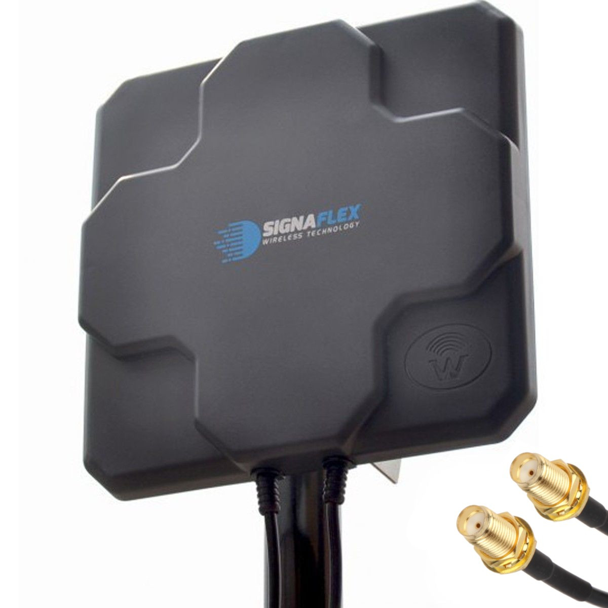 DUŻA Antena X-CROSS DUAL 2x 22dbi 4G LTE 2x 10m 2x TS9 prosty
