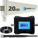 Komplet wzmacniacz GSM/DCS LCD4000 Tajfun z bat