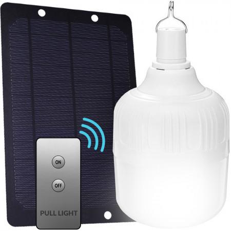 Żarówka bezprzewodowa na USB 80W 4800 mAh z ładowarką solarną