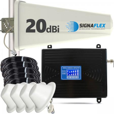 Komplet GSM/DCS LCD2000 Tajfun z 4x grzybek