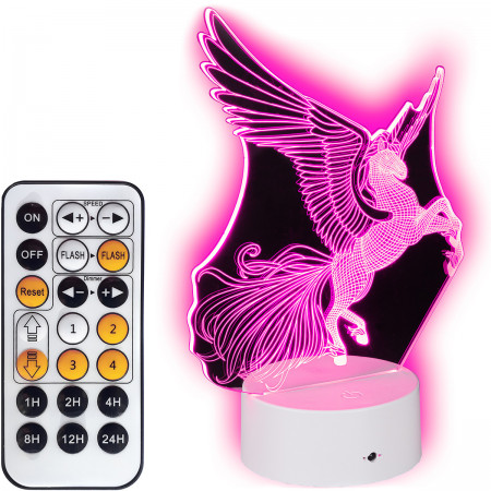 Lampka nocna 3D LED Unicorn