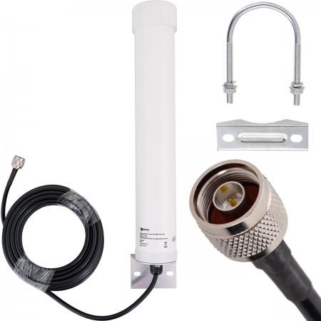 Antena OMNI TUBE GSM 4G LTE 12dBi 10m Nm