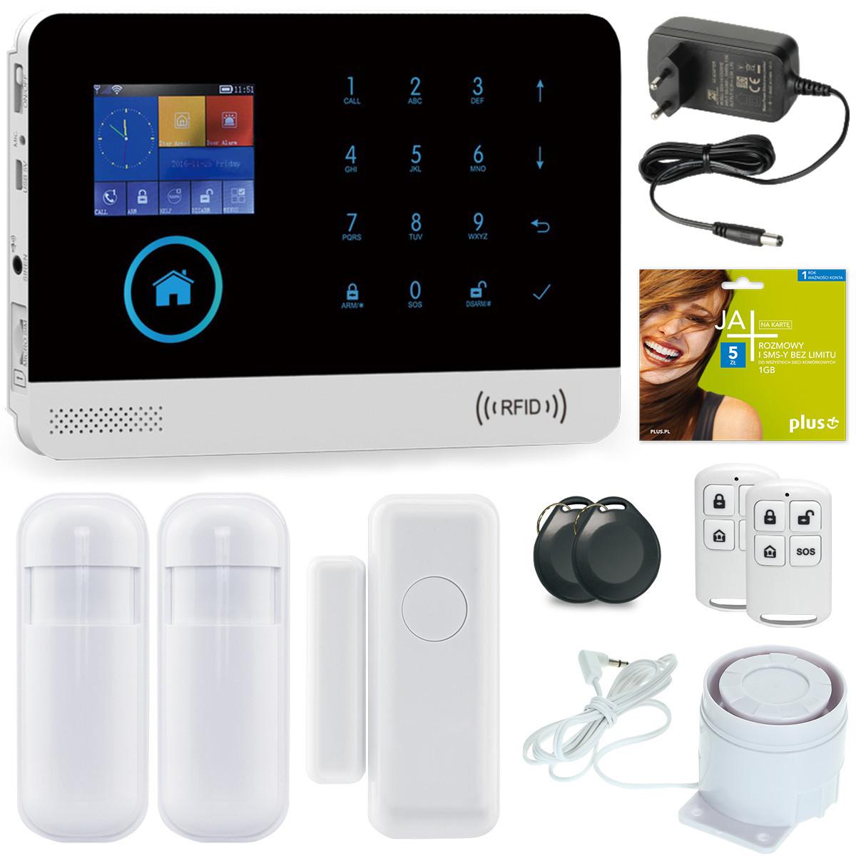 Alarm GSM Guardian III WiFi 3G + 3 czujniki + syrena