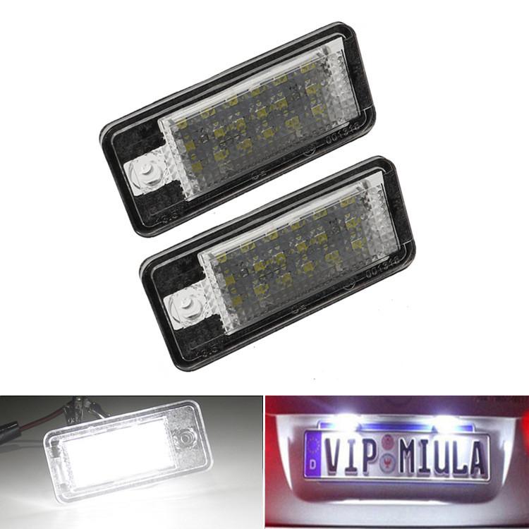 Lampki LED do tablicy rejestracyjnej na zbliżeniu
