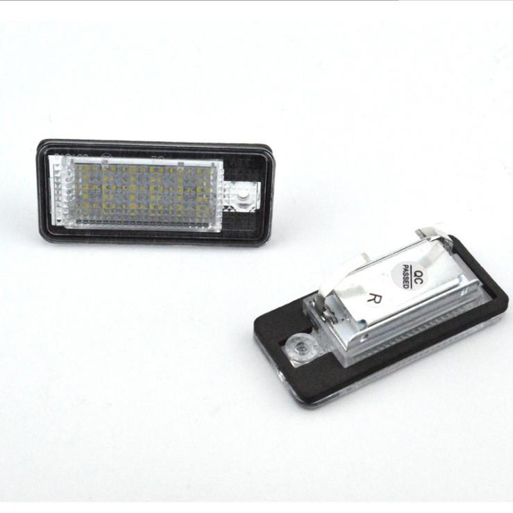 Tył lampek LED do Audi do tablicy rejestracyjnej