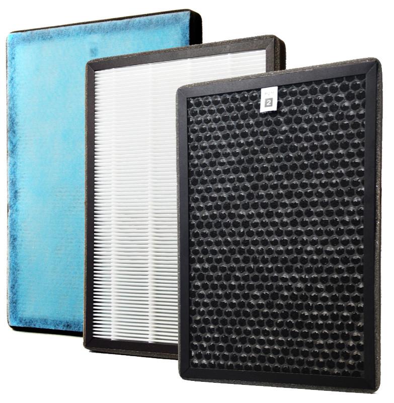 Budowa filtra - trzy warstwy