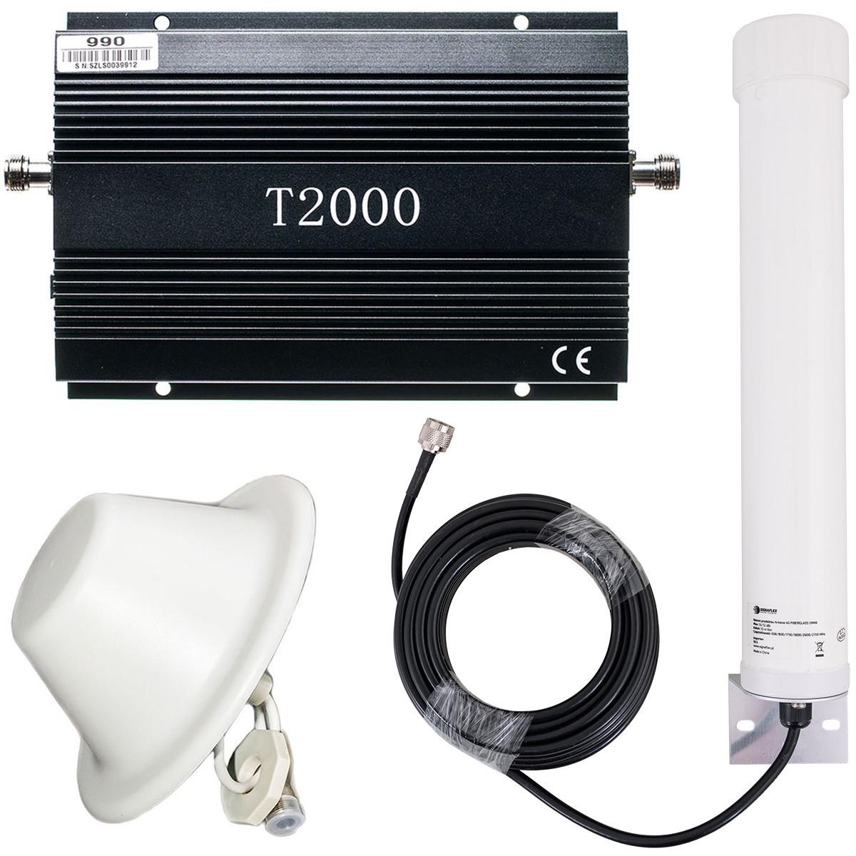 Komplet T2000 + Tube 10/12 dBi + grzybek 8 dBi
