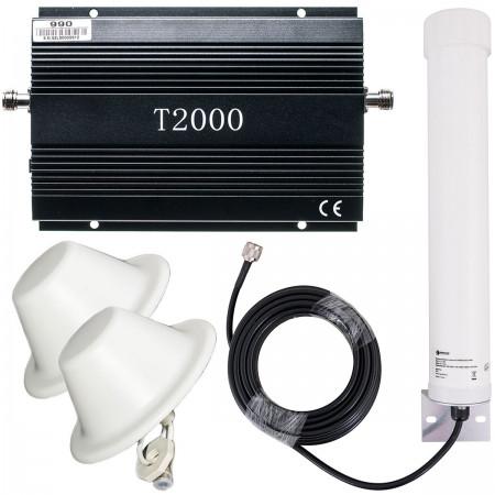 Komplet T2000 + Tube 10/12 dBi + 2x grzybek 8 dBi