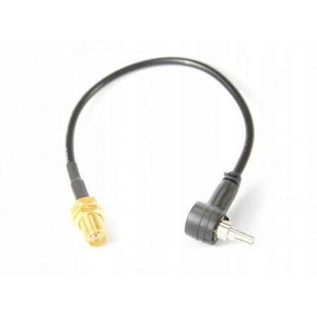 Konektor 15cm SMAż–TS9 (kątowy)