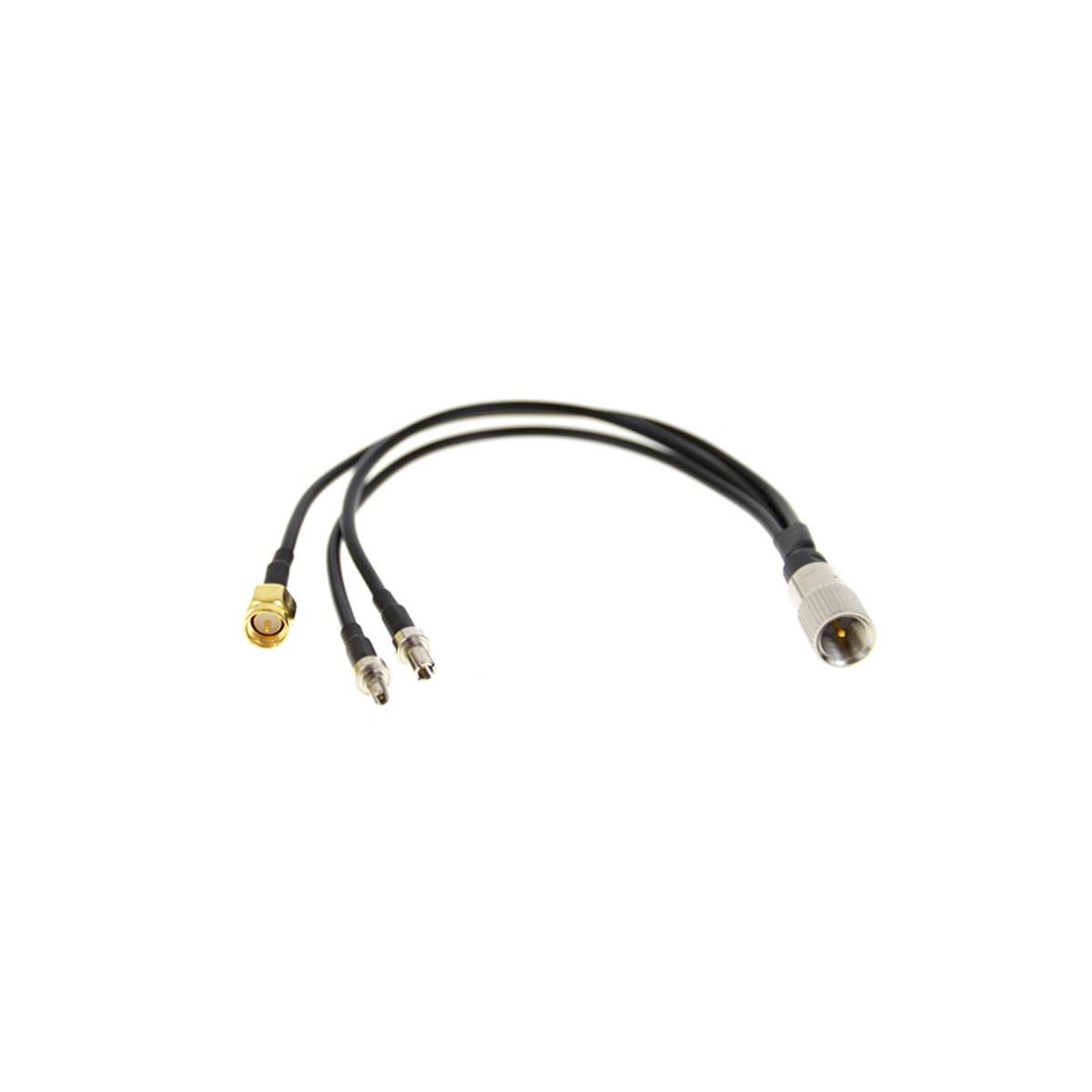 Konektor 15cm FMEm-CRC9+TS9+SMA (3w1)