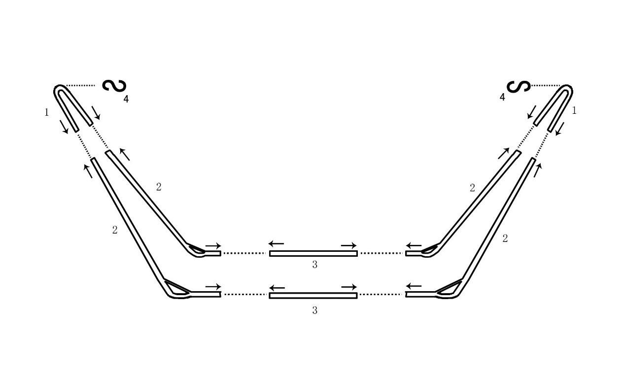 Rysunek pokazujący, jak złożyć stelaż do hamaka