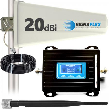 Wzmacniacz GSM/DCS LCD3000 z wbudowaną anteną + Tajfun + bat