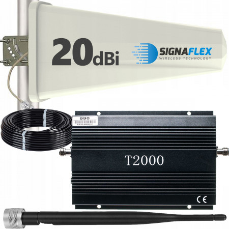 Komplet: wzmacniacz GSM T2000 + Tajfun z bat