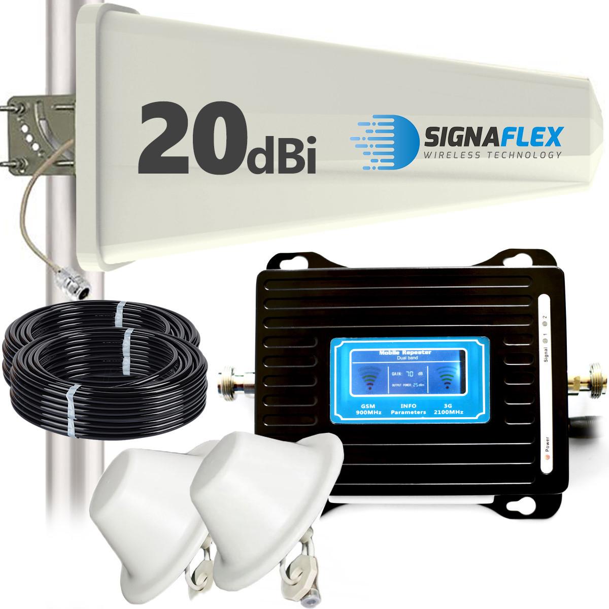 Wzmacniacz GSM/UMTS LCD3000 z wbudowaną anteną + Tajfun + grzybek