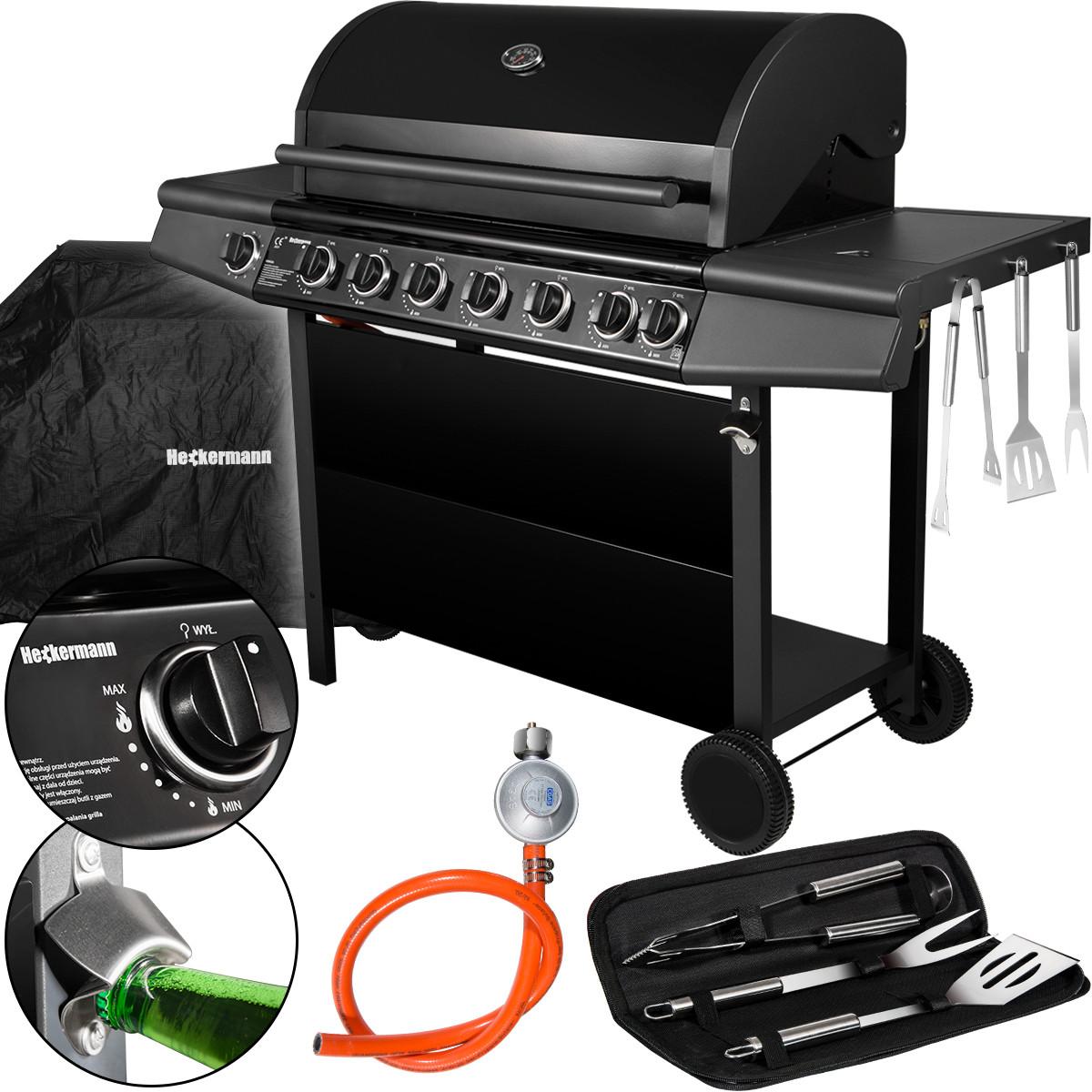 Grill gazowy, pokrowiec, akcesoria do grill, wężyk