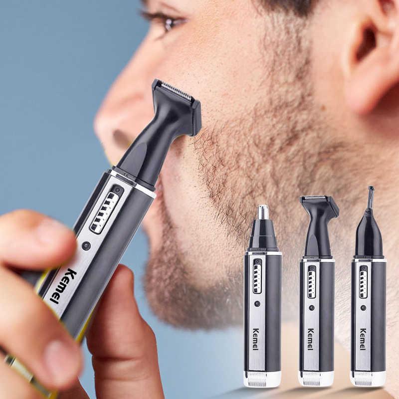 Mężczyzna używa trymera do brody