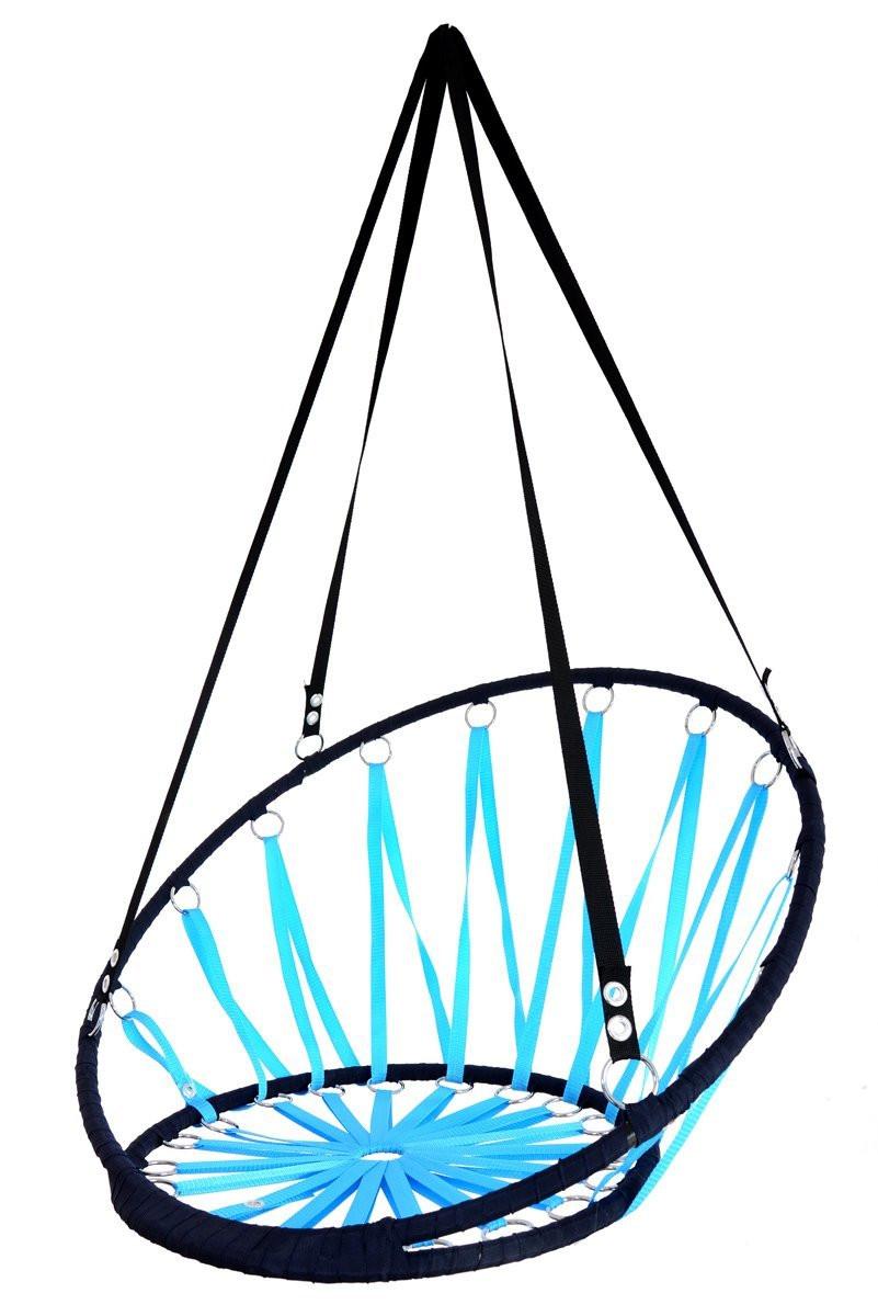Huśtawka bocianie gniazdo Leigar czarno-niebieska