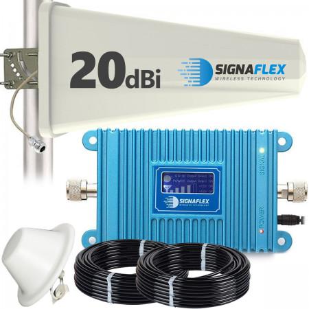 Komplet: wzmacniacz GSM Blue LCD + Tajfun z grzybkiem