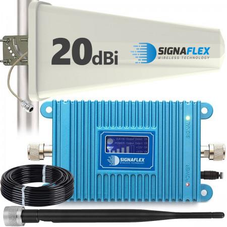 Komplet: wzmacniacz GSM Blue LCD + Tajfun z bat