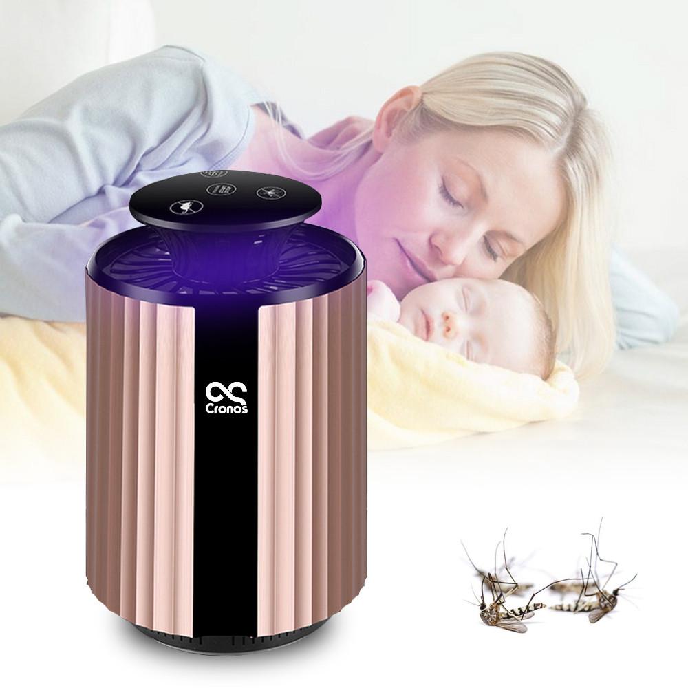 Lampa owadobójcza na tle matki z dzieckiem