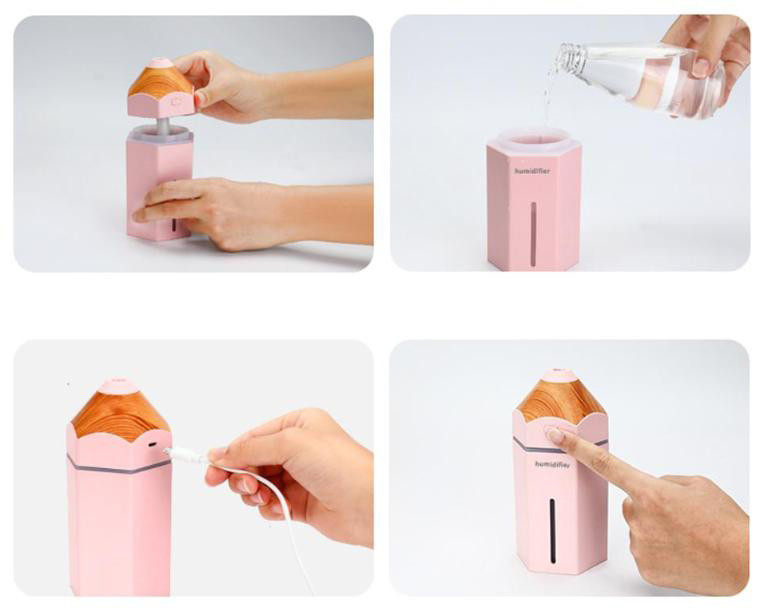 Otwarty pojemnik w nawilżaczu powietrza Pencil