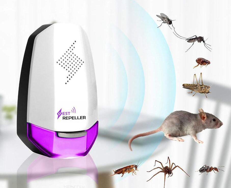 Odstraszacz na myszy fioletowy i miniaturki zwierząt