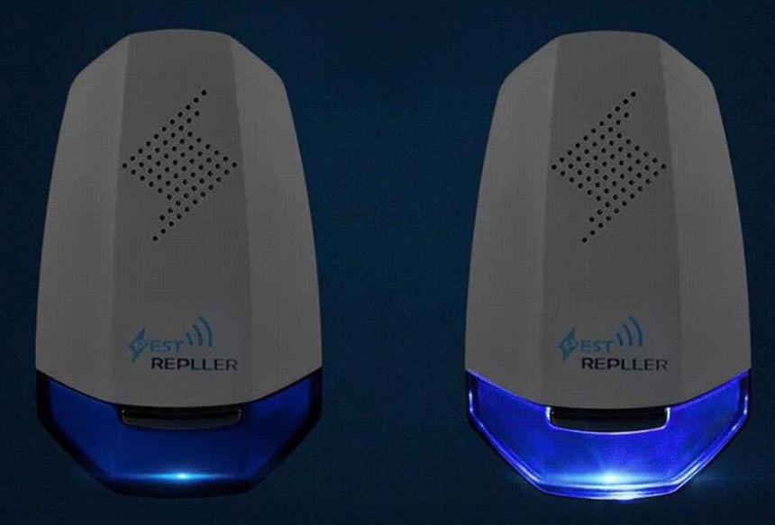 Niebieska lampka w odstraszaczu na myszy marki Heckermann