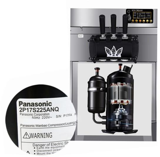 Maszyna do lodów włoskich - zbliżenie na kompresor