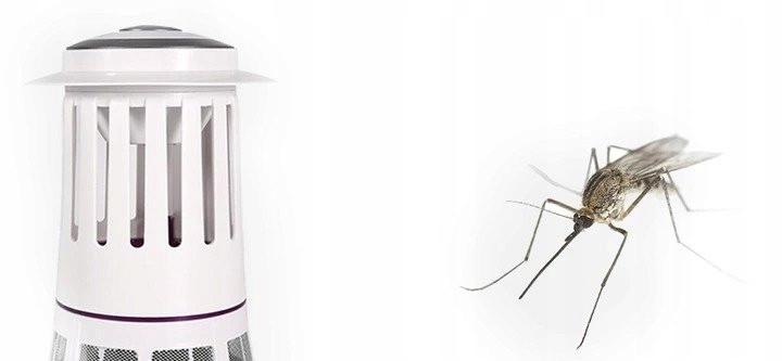 Lampa owadobójcza Cronos i siedzący obok niej komar