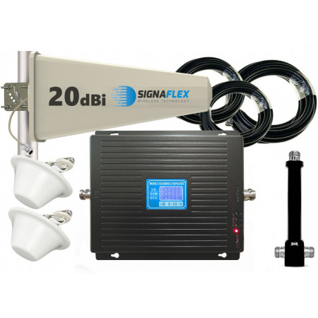 Komplet GSM/UMTS/DCS Black LCD Tajfun 2x grzybek
