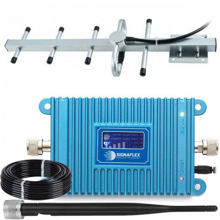 Komplet: wzmacniacz GSM Blue LCD + ATK z bat