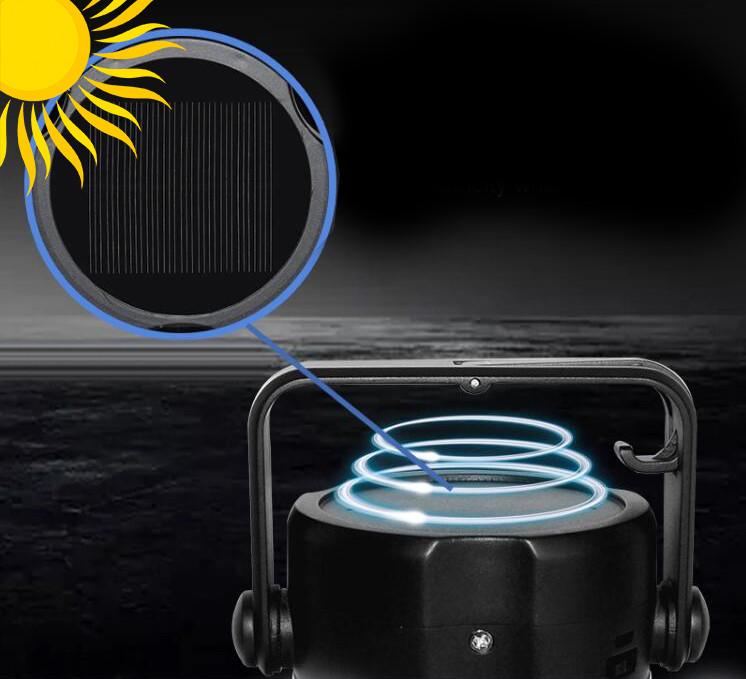 Zbliżenie na płytkę solarna w lampie LED