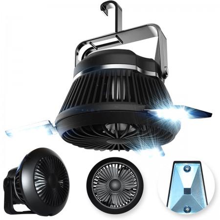 Lampa LED zewnętrzna solarna + wiatrak 4w1