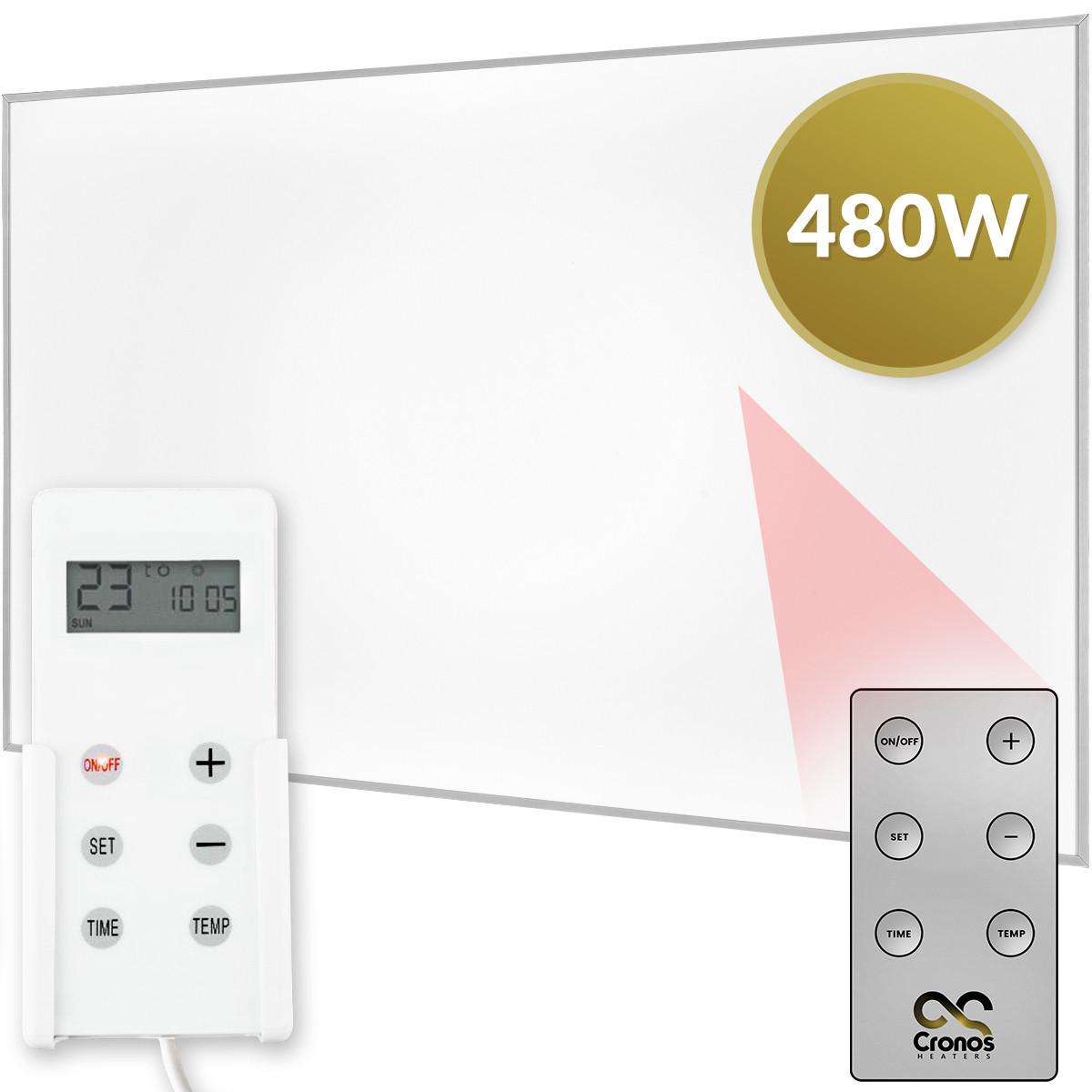 Panel grzewczy na podczerwień Cronos 480W z termostatem