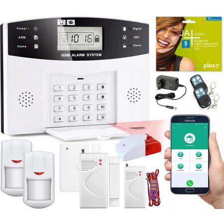 Alarm GSM LCD Guardian box + 1 PIR + 3 okno/drzwi
