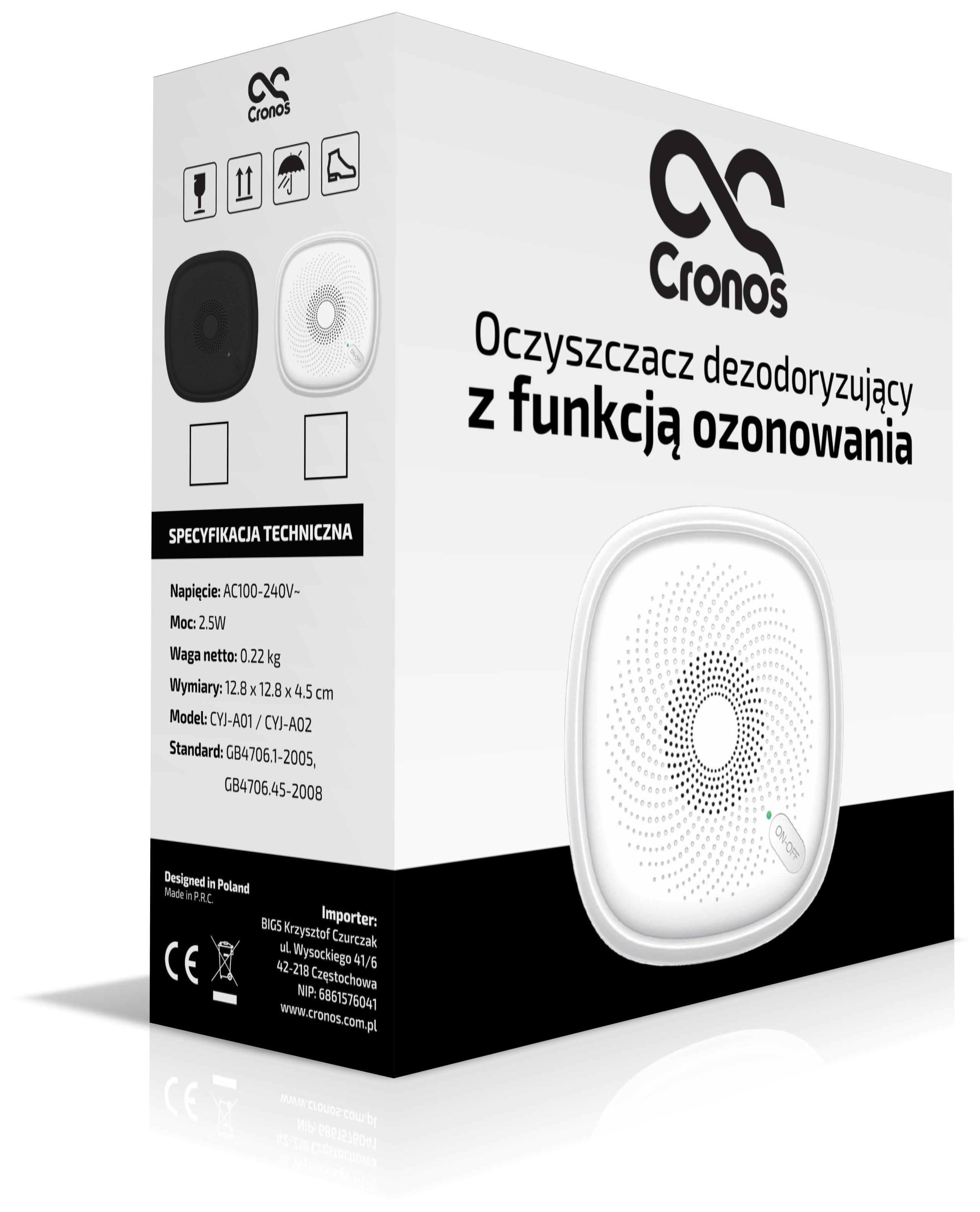 Pudełko do oczyszczacza powietrza marki Cronos
